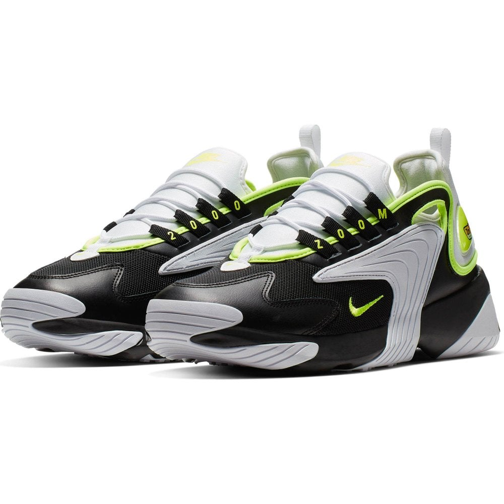 new style 7e806 90a5c Nike Mens Zoom 2K Trainers (Black   White   Yellow)