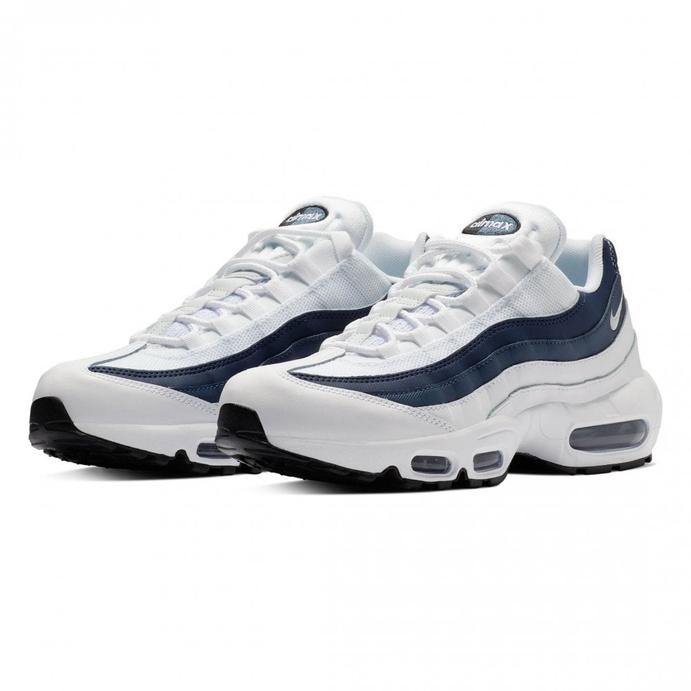 finest selection cb3d7 076ef Nike Unisex Air Max 95 Essential Trainers (White / Blue) - Mens from ...