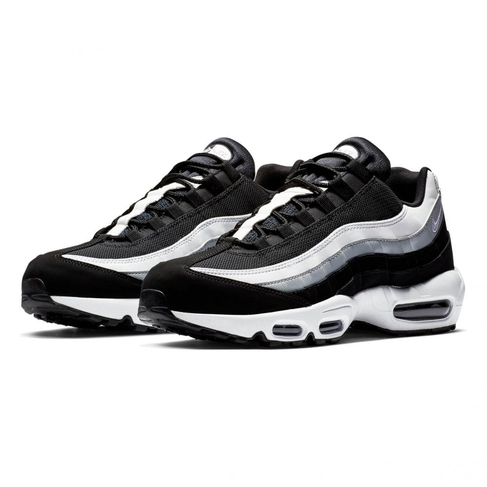 a5dd810b82 NIKE Nike Unisex Air Max 95 Trainers (Black / White) - Mens from ...