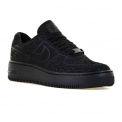 Nike Womens Air Force 1 Upstep Trainers (Black)