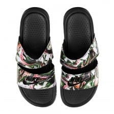 Nike Womens Benassi Duo Ultra Slides (Black/Multi)