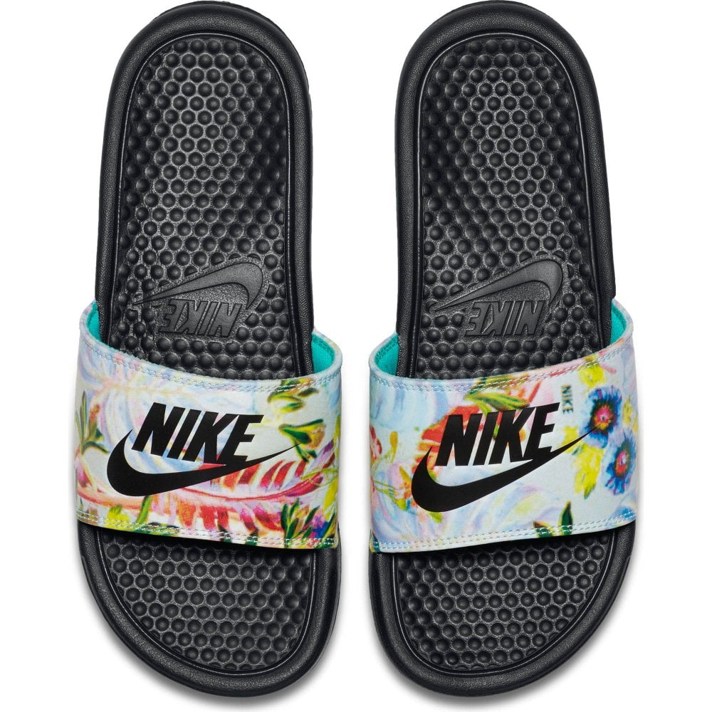 Nike Nike Womens Benassi Jdi Floral Print Slide Black  Multi - Womens From Loofes Uk-4563