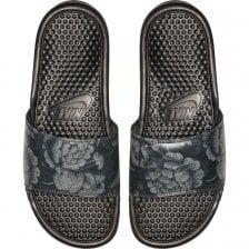 cccdfc6b59a Nike Womens Benassi JDI Flower Print Slides (Black)