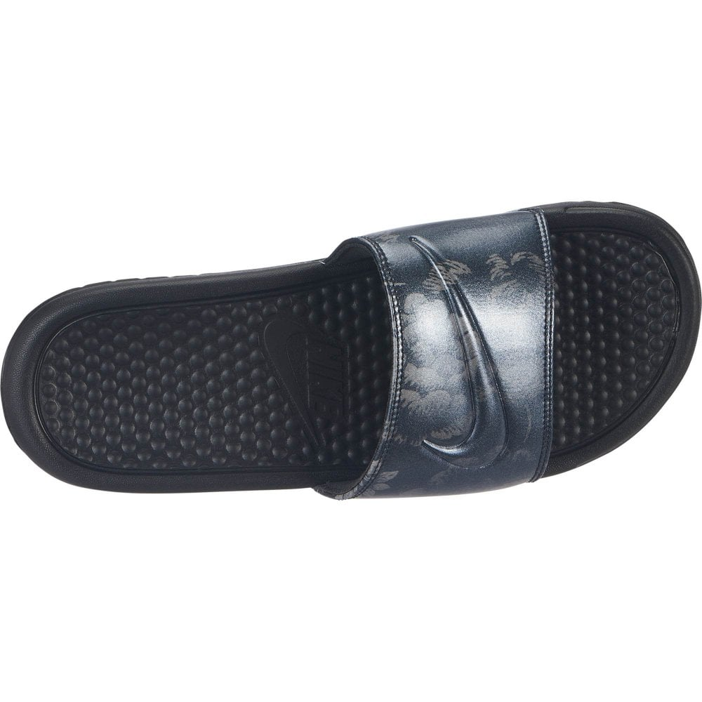 d6767bedd0c1 Nike Womens Benassi JDI Flower Print Slides (Black) - Womens from ...