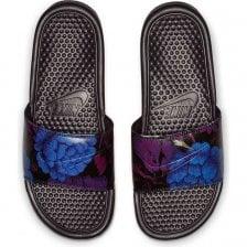 e8936466c8fd Nike Womens Benassi JDI Flower Print Slides (Burgundy)