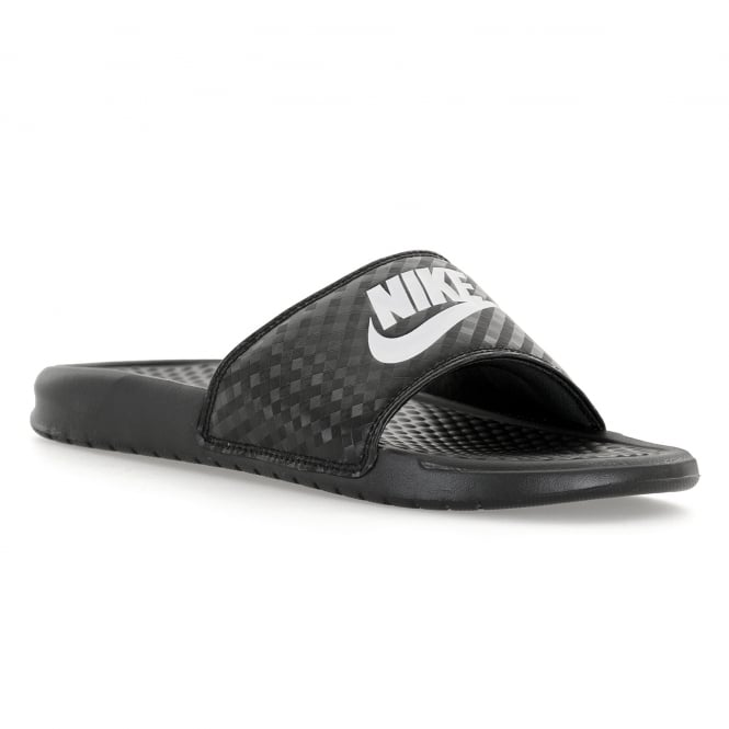 huge discount ac667 b9f2e nike womens benassi jdi slide flip flops black white   sandals from loofes  uk