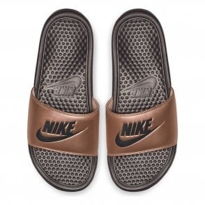 c420955f1cc6 Nike Womens Benassi JDI Print Slide Flip Flops (Bronze) - Womens ...