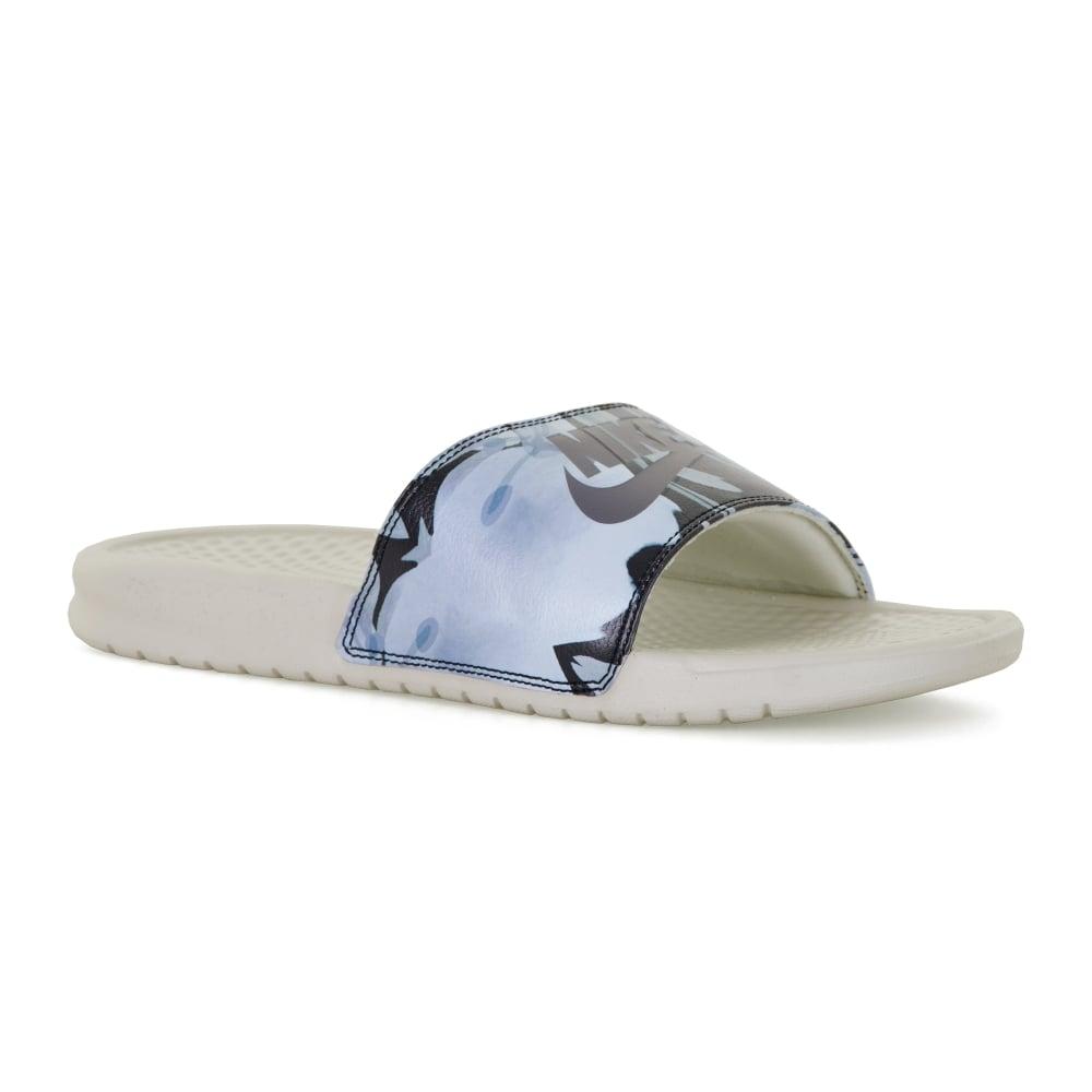 77aa15a6441990 Nike Womens Benassi Slide Print Flip Flops (Bone) - Womens from ...