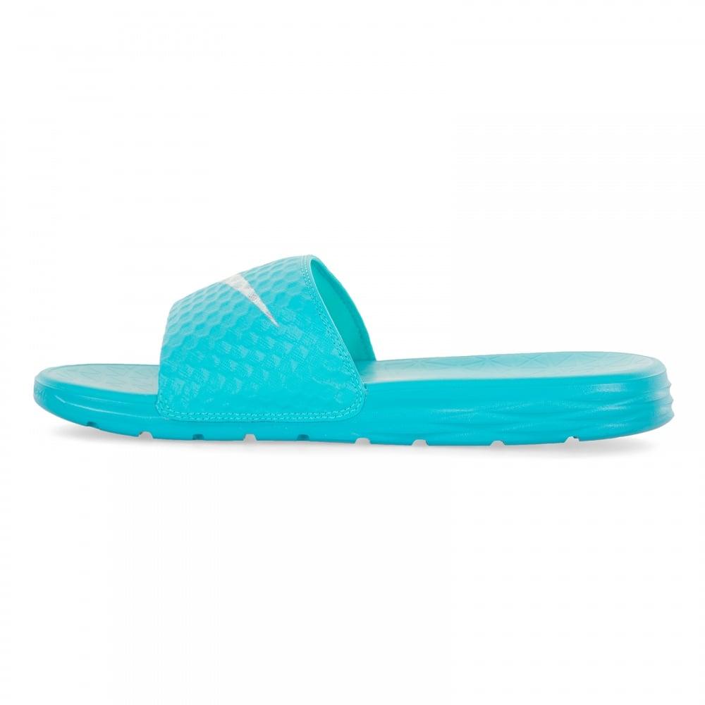 568e74f425cc13 Nike Womens Benassi Solarsoft Slide Flip Flops (Blue) - Womens from ...