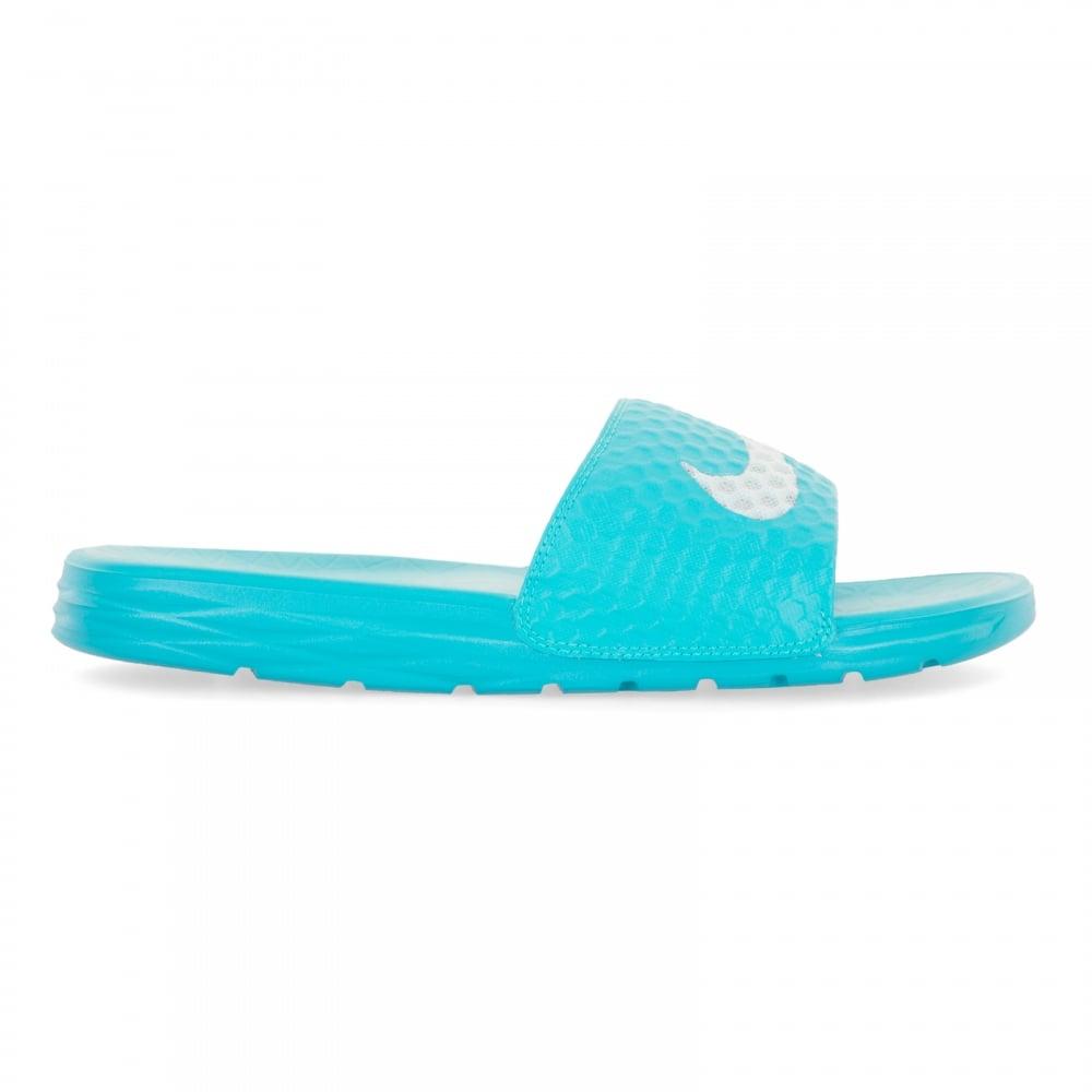 bc9ea8e6dca4 Nike Womens Benassi Solarsoft Slide Flip Flops (Blue) - Womens from ...