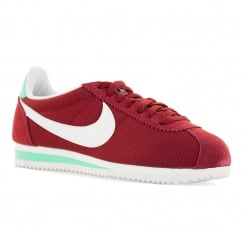 Nike Womens Classic Cortez Textile 316 Trainers (Noble Red/Hyper Turquoise)