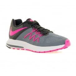 Nike Womens Zoom Winflo 3 Trainers (Cool Grey/Pink Blast/Anthracite)