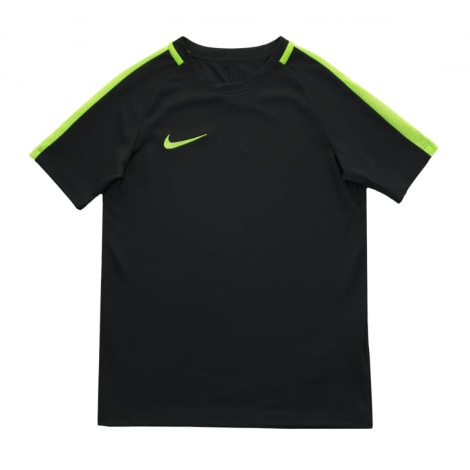 nike youths academy dri fit top black green t shirts from loofes uk 424000820