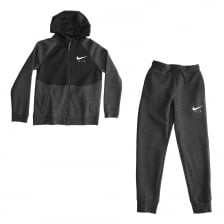 Nike Youths Air Fleece Track Suit (Black)