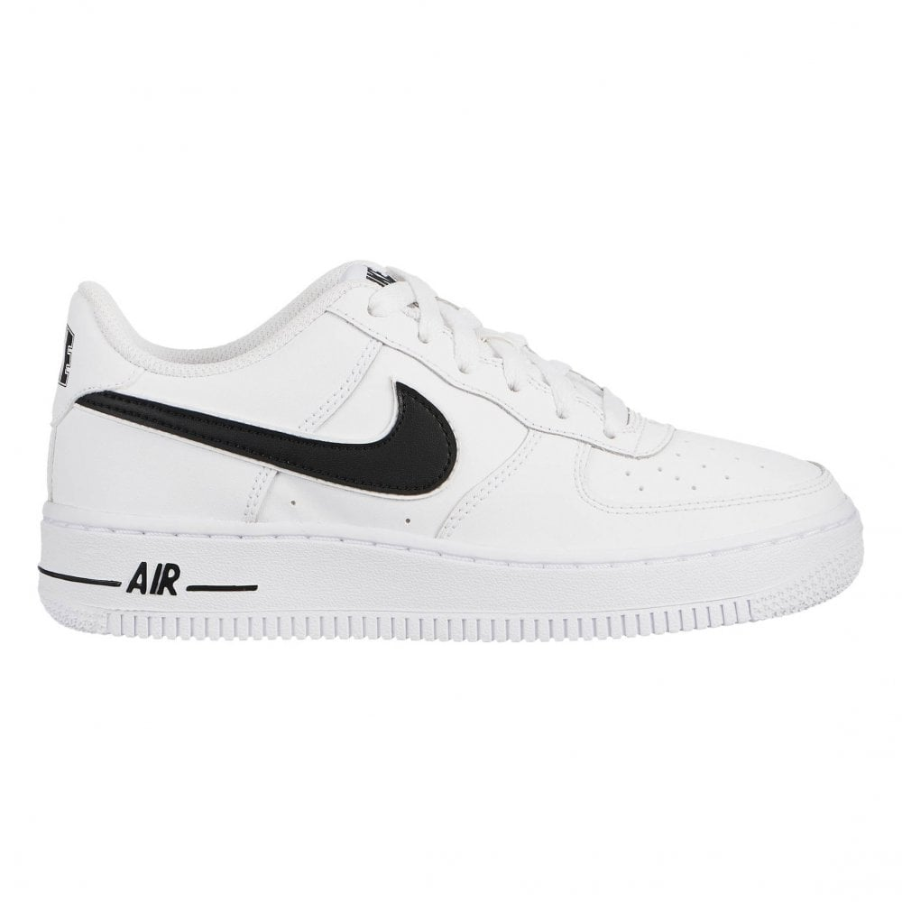 4d7937a0723e4 Nike Youths Air Force 1-3 Trainers (White   Black) - Kids from Loofes UK