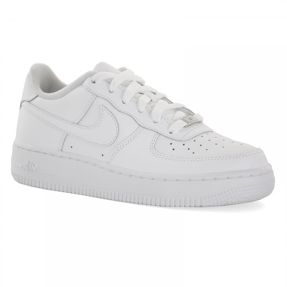 buy online a899c 447da Nike Youths Air Force 1 Low Trainers (White)