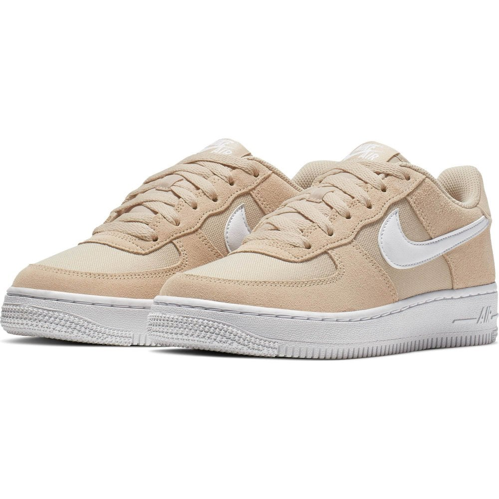 nouveau concept e81f2 fafd7 Youths Air Force 1 PE Trainers (Beige)