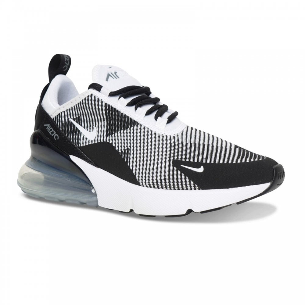 Nike Youths Air Max 270 Jacquard Trainers (Black White) - Kids from ... 897b1927f622