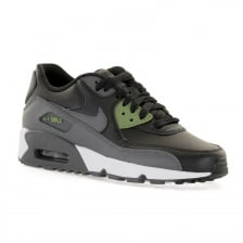 Nike Youths Air Max 90 Leather 216 Trainers (Black)