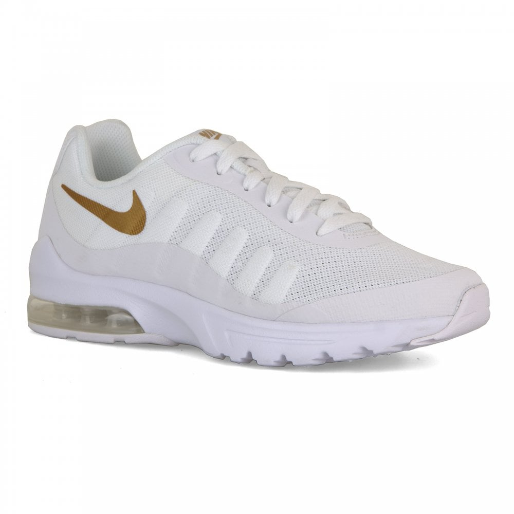 1b5b71ad5edea Nike Youths Air Max Invigor Trainers (White/Gold) - Kids from Loofes UK