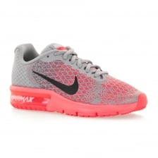 Nike Youths Air Max Sequent 2 Trainers (Grey/Pink)