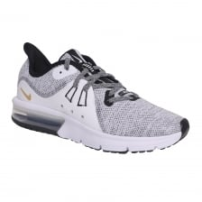 Nike Youths Air Max Sequent 3 218 Trainers (White/Grey)