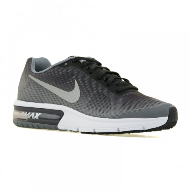 0cd0678ec0 nike youths air max sequent 316 trainers black metallic silver wolf grey  kids from l... LOOFES‑CLOTHING