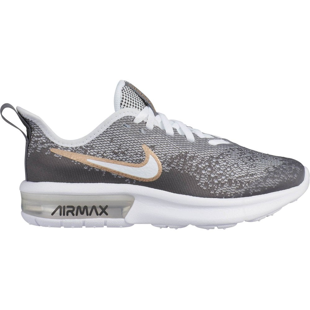 d2505303ae Nike Youths Air Max Sequent 4 EP Trainers (White / Grey) - Kids from ...
