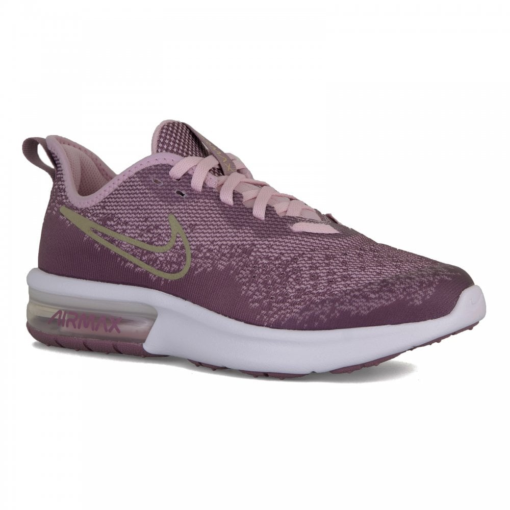 NIKE Nike Youths Air Max Sequent 4 Trainers (Violet) - Kids from ... bb18b72d7