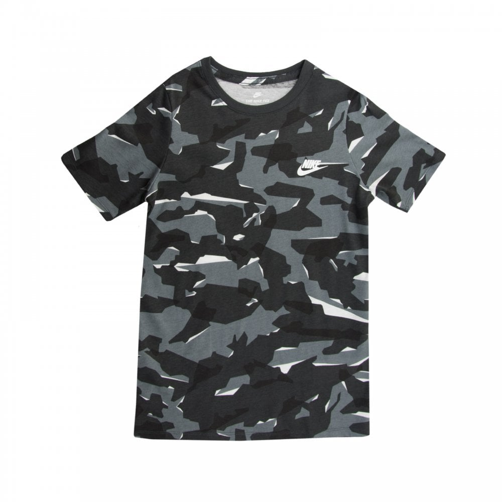 Nike Youths Camo T-Shirt (Grey) - Kids from Loofes UK