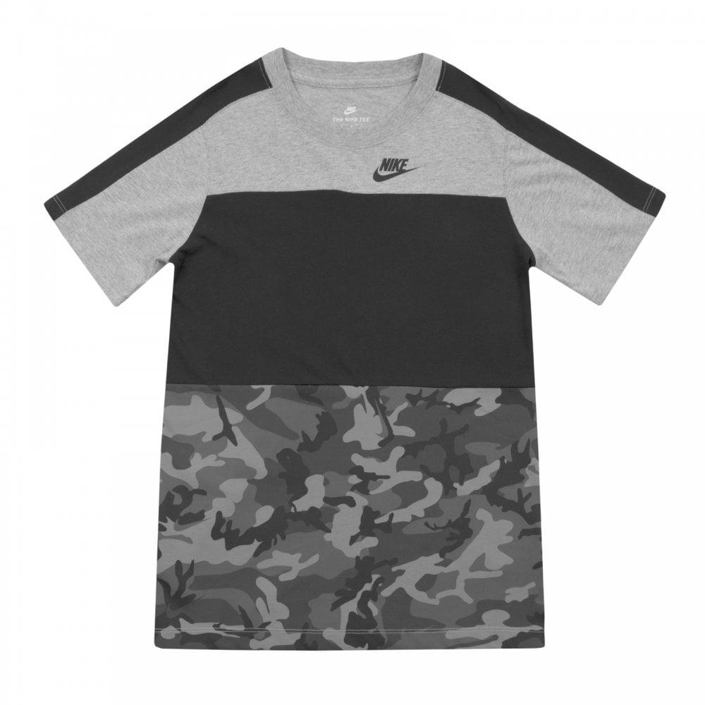 c663b841 ... Nike Youths Camo T Shirt Grey Kids from Loofes UK