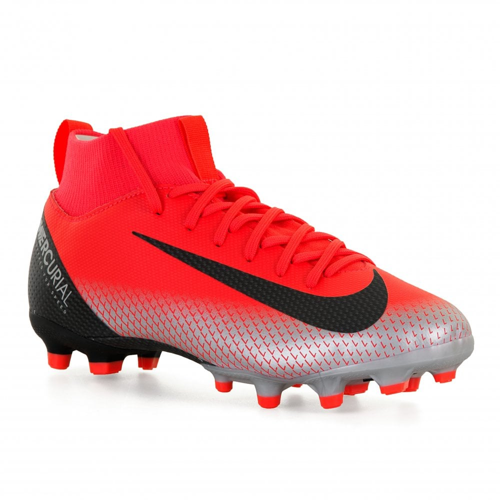 timeless design ef8e2 fb887 Youths CR7 Superfly Academy Firm Ground Football Boots (Red)