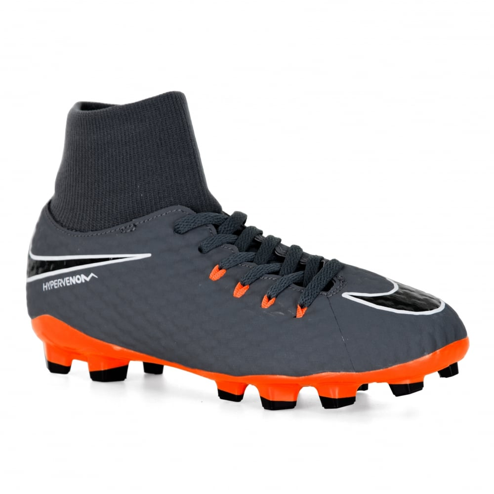 the latest 64e62 d552e Youths Hypervenom Dynamic Football Boots (Grey)