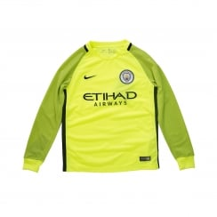 Nike Youths Manchester City Home 2016/17 Shirt (Yellow)