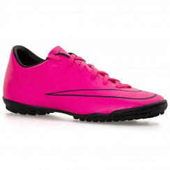 Nike Youths Mercurial Victory Turf Football Boots (Hyper Pink/Black)