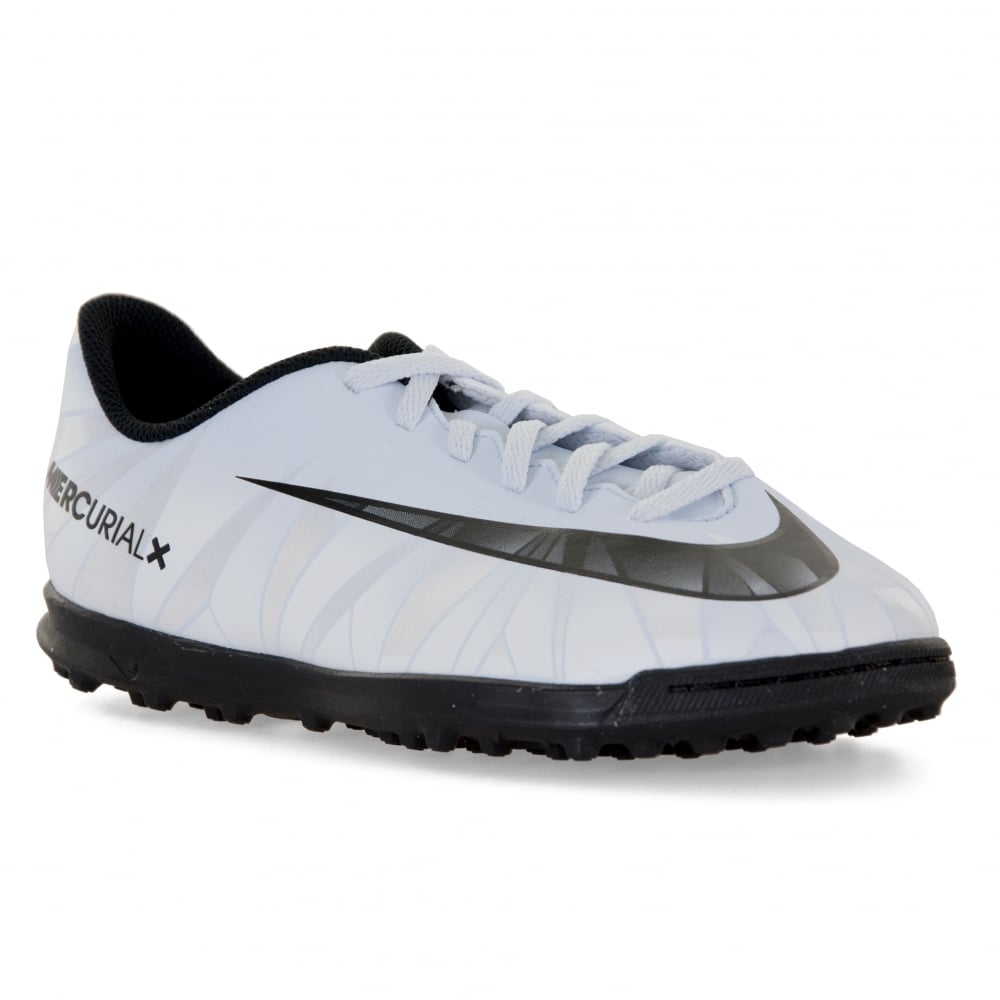 b1fb21b91f13 Nike Youths Mercurial Vortex CR7 TF Football Trainers (Blue Tint/Black/White )