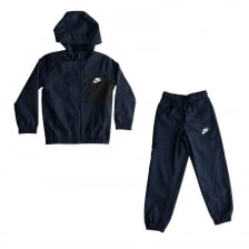 Nike Youths Winger Woven Hooded 316 Track Suit (Obsidian)