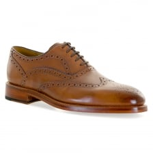 Oliver Sweeney Mens Aldeburgh Oxford Brogue Shoes (Dark Tan)