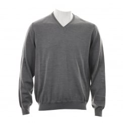 Olymp Mens 01501 V Neck Sweater (Grey)