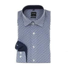 Olymp Mens Pattern Shirt (Blue)