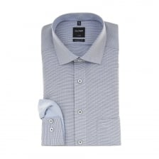 Olymp Mens Pattern Shirt (Sky)