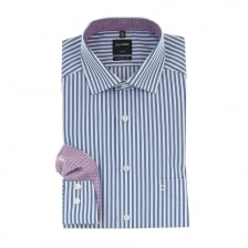 Olymp Mens Stripe Shirt (Blue)