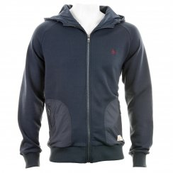 Original Penguin Mens Backford Move On Hooded Sweater (Dress Blue Navy)