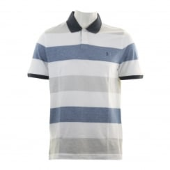 Original Penguin Mens Birdseye Colour Block Polo Shirt (Bright White)