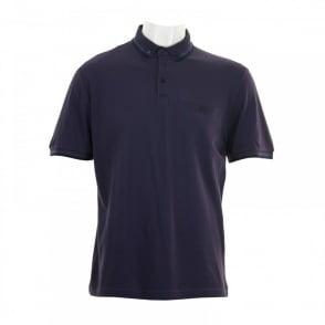 a7ec1230 Original Penguin Mens Diamond Jacquard Polo Shirt (Dark Denim ...