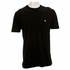Original Penguin Mens Pin Point Embroided T-Shirt (Black)