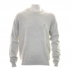 Original Penguin Mens Raglan Sleeve Crew Neck Knitted Sweater (High Rise)