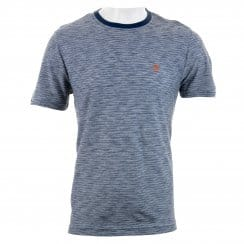 Original Penguin Mens Slub Feeder Ringer T-Shirt (Blue/White)