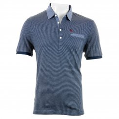 Original Penguin Mens Yarn Dye Stripe Polo Shirt (Navy)