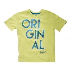 Original Penguin Youths Original Pool T-Shirt (Sunny Lime)